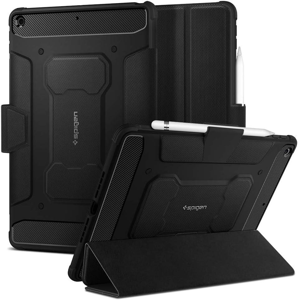 Spigen Rugged Armor Pro Diseñado para iPad 10.2, iPad 8ª Generación Funda (2020) / iPad 7ª Generación Funda (2019) - Negro