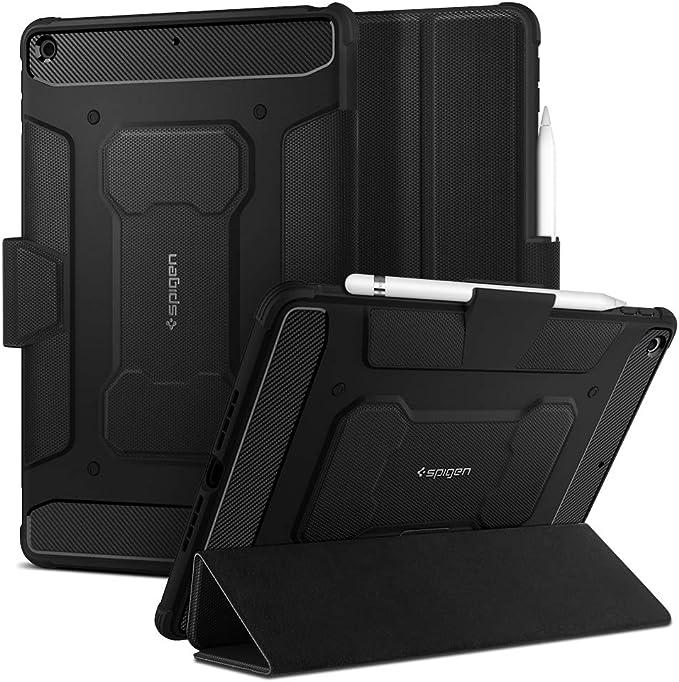 Spigen Rugged Armor Pro Compatible With Ipad 10 2 Ipad 8th Generation Case 2020 Ipad 7th Generation Case 2019 Black Elektronik