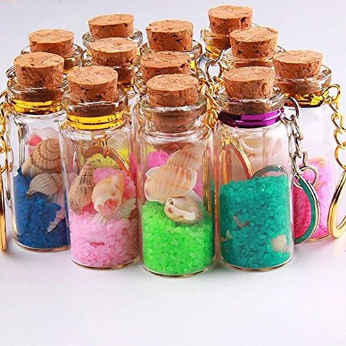 Amazon.com: LAAT Mini Glass Bottles Jars with Cork Perfumes Beads Jewelry Container Wishing Bottles Clear Flasks for Liquid Sands Weddings Decor-1.5ml ...