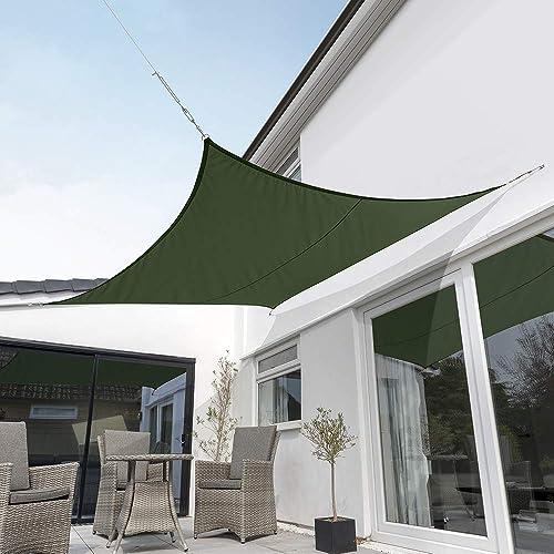 Kookaburra Waterproof Green Sun Shade Sail Garden Patio Gazebo Awning Canopy 98 UV Block