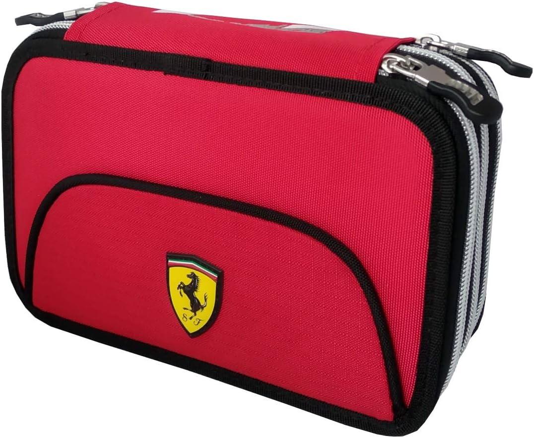 Estuche de 3 cremalleras organizado completo 62552 Scuder/ía Ferrari
