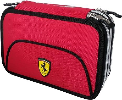 Ferrari 62552 - Estuche, 3 cremalleras, organizado, completo: Amazon.es: Bebé