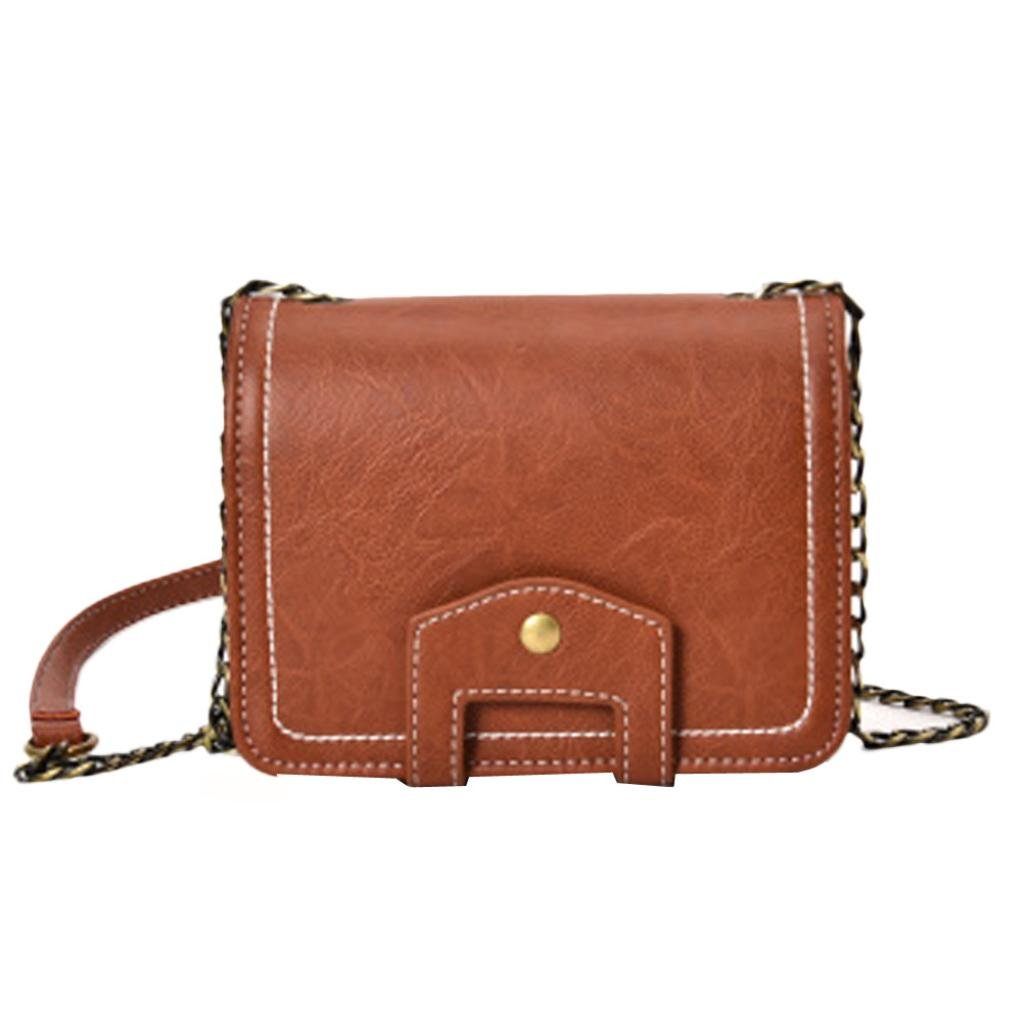 Women Handbag, Hunzed Fashion Messenger Leather Shoulder Bag Crossbody Bag Handbag Small Body Bags For Ladies (Khaki)