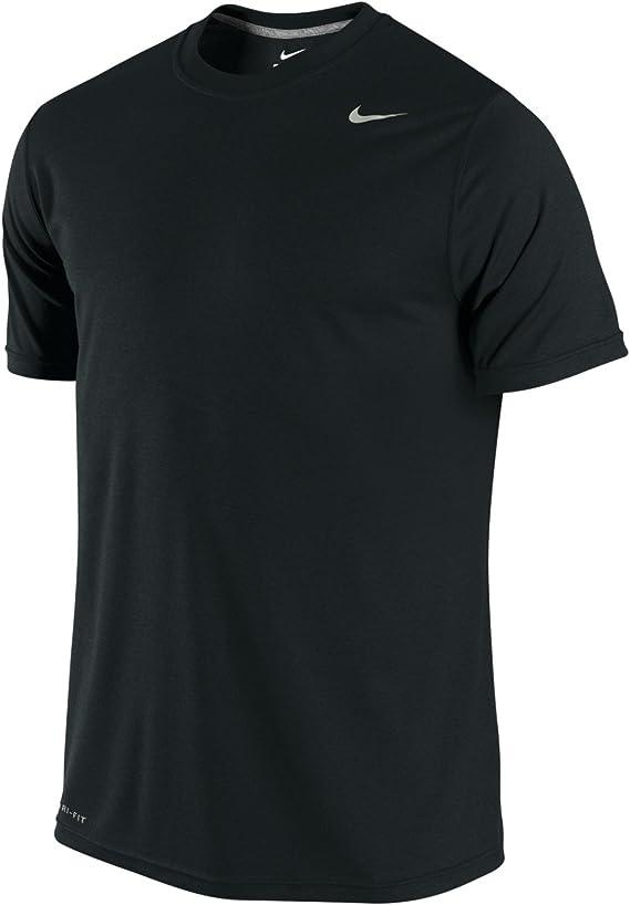 New Men/'s Nike Legend 2.0 Dri-Fit Tee Shirt 718833-100 Black White
