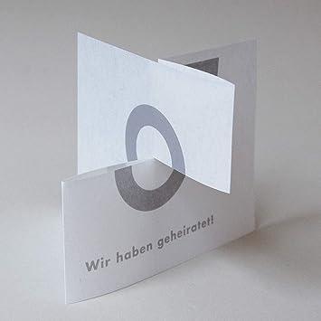 6 Hochzeitskarten Wir Haben Geheiratet Karte Zum Auseinanderziehen