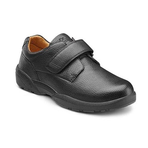 40e15f08c1cae Dr. Comfort Men's William-X Double Depth Black Diabetic Casual Shoes