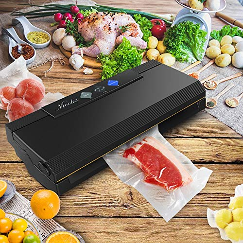 MOOKA Vacuum Sealer 4 IN 1 Vacuum Sealing System with Cutter, 10 Sealing Bags (FDA-Certified) - FRESH UP TO 5x Longer | Dry & Moist Modes | With Up To 40 Consecutive Seals (ETL Safety Certified) by Mooka (Image #6)