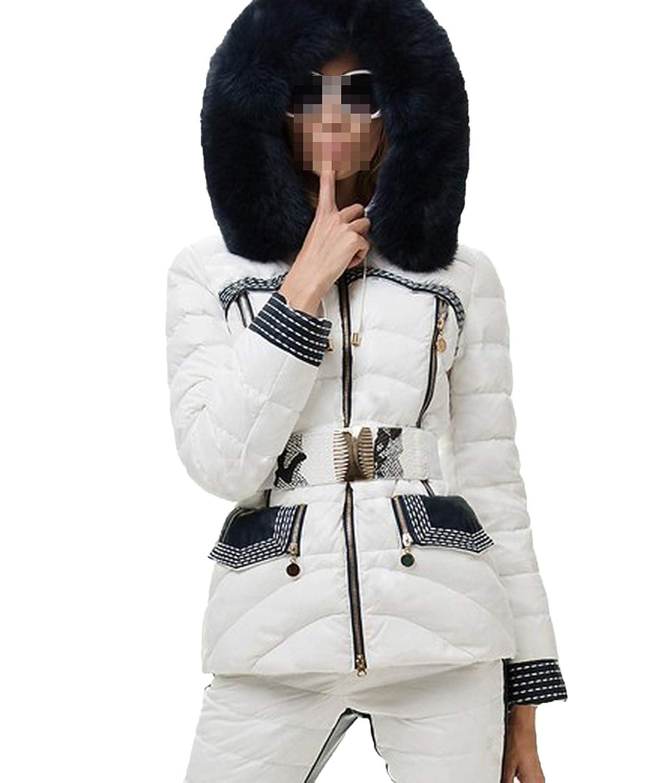 Amazon.com: Chaqueta de invierno para mujer, traje de plumón ...
