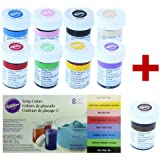Wilton Lot de 8 flacons de colorants alimentaires + BONUS: Marron