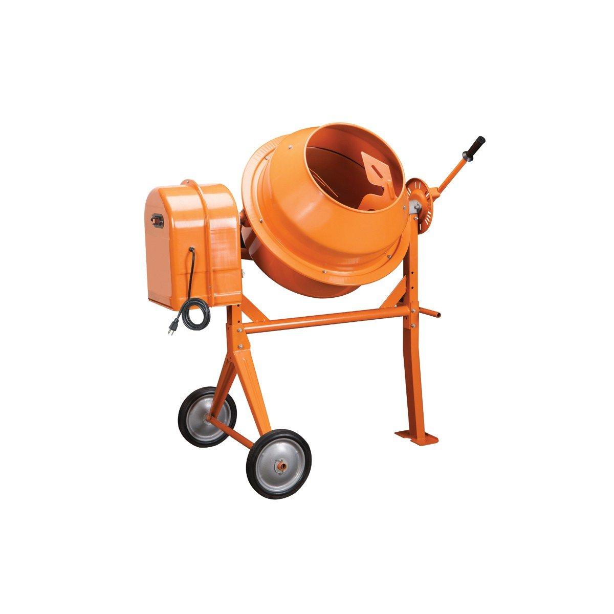 Amazon.com: 1/3 Hp Electric Cement Mixer 3.5 Cubic Ft; 10.7 Amps, 36 RPM:  Home Improvement