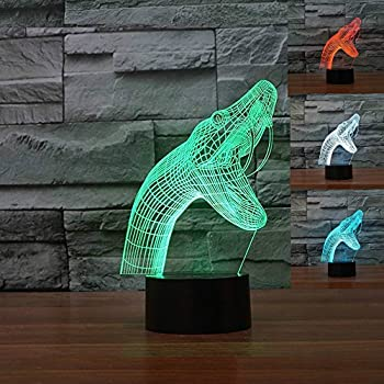 Lights & Lighting Capable 3d Fishing Led Night Light 7 Color Changing 3d Fish Table Desk Lamp Lighting Children Bedroom Toys Xmas New Year Kids Gifts