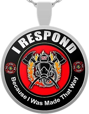 Firefighter Maltese Cross Emblem Necklace Firefighter Wife Firefighter Mom, Female Firefighter EMT Paramedic Firefighter Girlfriend