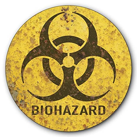 Amazon Biohazard Warning Tin Metal Steel Sign Biological