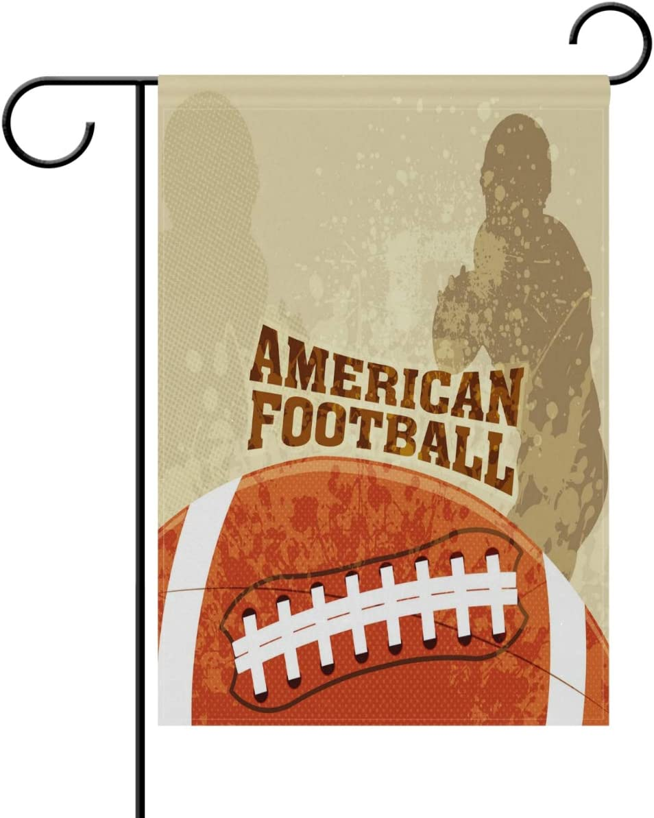 Amazon Com Yochoice Alaza Grunge American Football Polyester Garden Flag House Banner 12 X 18 Inch Two Sided Welcome Yard Decoration Flag For Wedding Party Home Decor Garden Outdoor