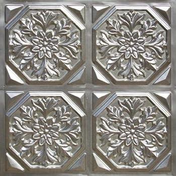 Amazon Com Drop Ceiling Tiles 301 Antique Silver Modern