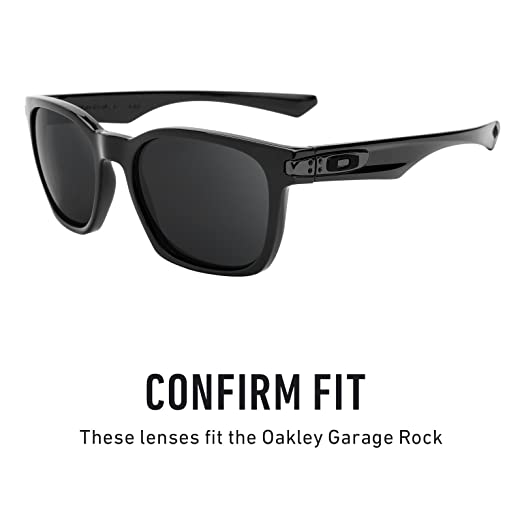 5ecbfb8896 Amazon.com  Revant Polarized Replacement Lenses for Oakley Garage Rock  Elite Black Chrome MirrorShield  Sports   Outdoors