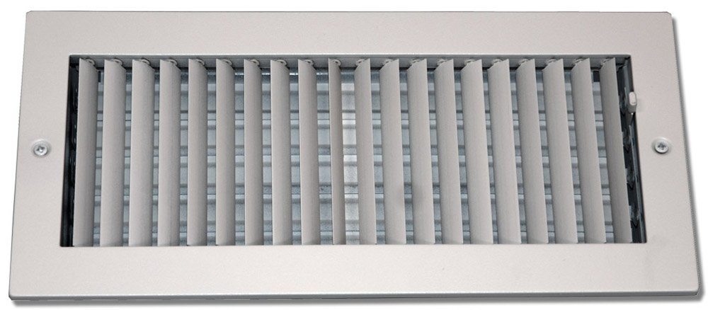 Speedi-Grille SG-414 ASD 4-Inch by 14-Inch Soft White Steel Ceiling or Wall Register with Adjustable Single Deflection Diffuser