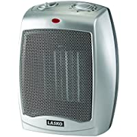 Lasko Portable 754200 Ceramic Space Heater with Adjustable Thermostat, New