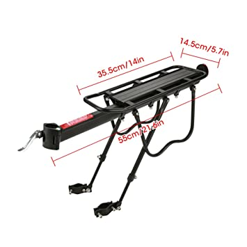 VGEBY1 Bike Rear Racks Cycling Cargo Racks Bicycle Luggage Carrier Rear Racks Reflector Shelf Cycling Seat Bag Stand with Taillight
