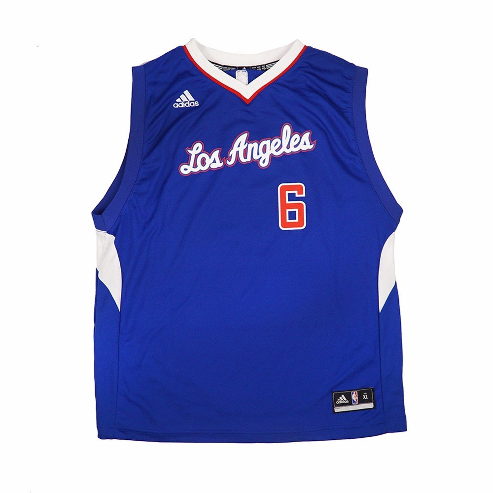 a644e90d8 Amazon.com   DeAndre Jordan Los Angeles Clippers NBA Adidas Youth Blue  Official Alternate Replica Basketball Jersey (M)   Sports   Outdoors
