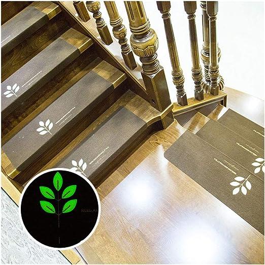JJHH Peldaños de Escalera Alfombra Antideslizante con Respaldo de Goma para peldaños de Madera para Interiores, alfombras de Piso de peldaños Lavables extraíbles, Juego de 13,Darkbrown,S: Amazon.es: Hogar
