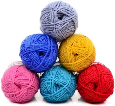 Super Suave bebé 100% Hilo acrílico Conjunto de Ganchillo de Tejido de Hilo de algodón Colores Surtidos aleatorios Paquete de 24 x 25 g Paquetes para Bufanda Sombrero Guantes Suéter/Tejer Lana: Amazon.es:
