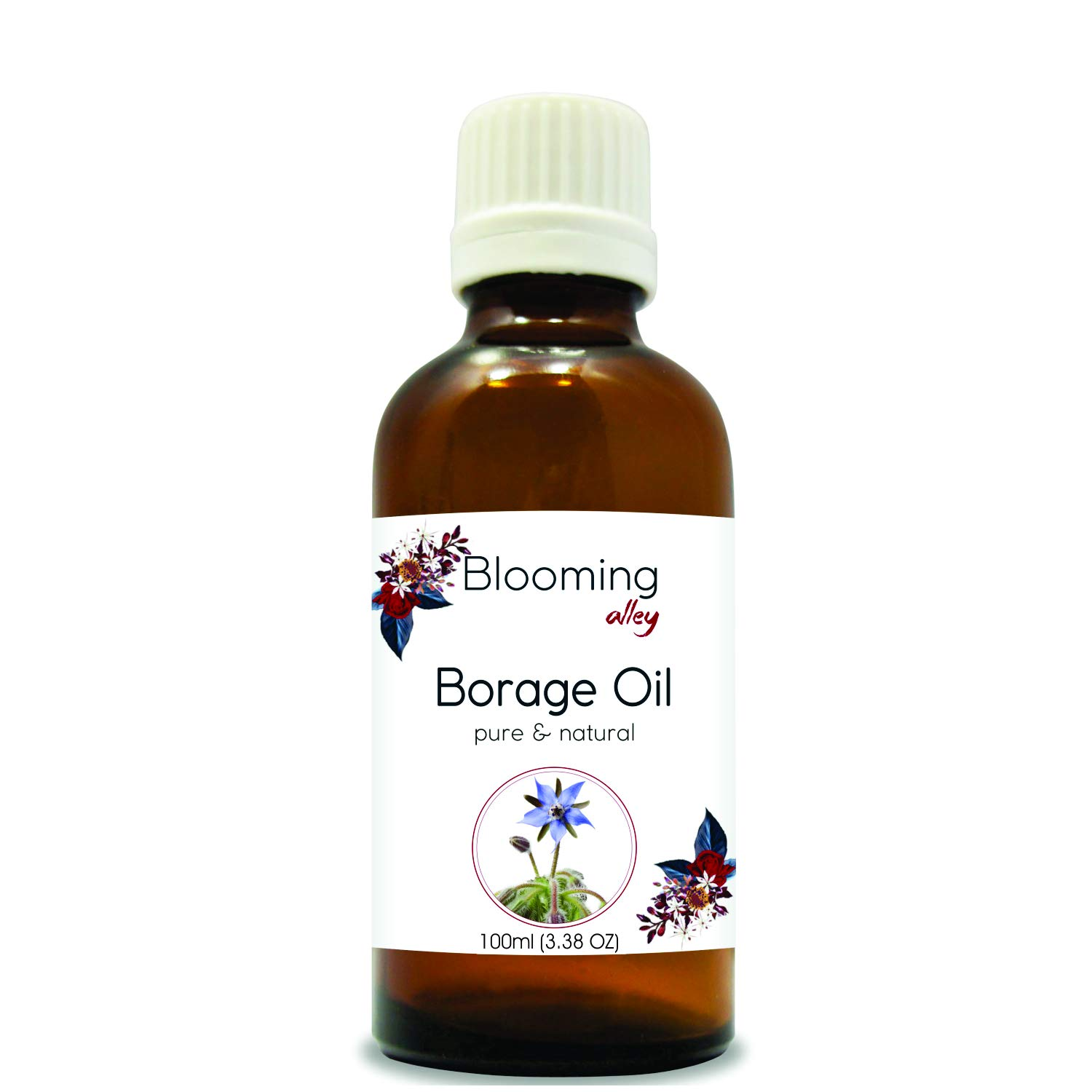 BORAGE OIL 100% NATURAL PURE UNDILUTED UNCUT CARRIER OILS (100ml)