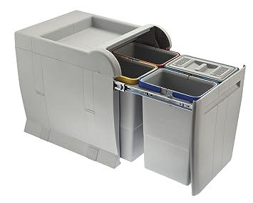 ELLETIPI City PTA 4045 C Mülleimer Mülltrennung, Ausziehbar für Base ...