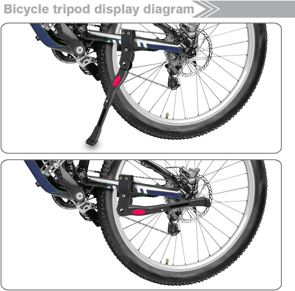 for Bicycle Mountain Road Bike with Wheel Diameter 22-28 Inch,Mountain Bike 700C Road Bike Bike Kickstand,Adjustable Adult Bicycle Kickstand Side Stand