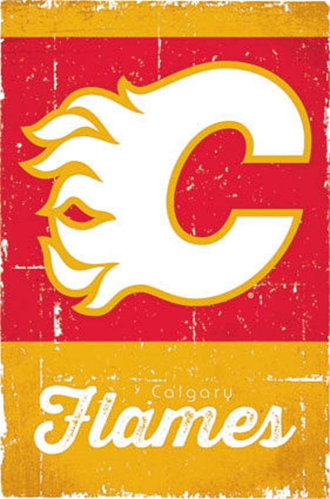 Calgary Flames - Retro Logo 13 Poster Print (22 x 34) Trends International