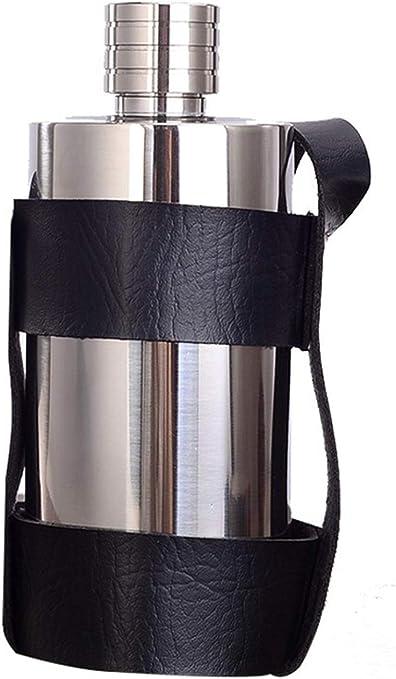 Moderne Carrefour Flasque portable ronde en acier inoxydable avec bouchon PU-08