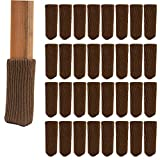 32Pcs Chair Legs Socks, Chair Leg Caps Furniture Table Covers Elastic Wood Floor Chair Leg Feet Protectors Covers Caps Set for Bar Stool, Dinning Chairs, Table, Hardwood Floor Protectors