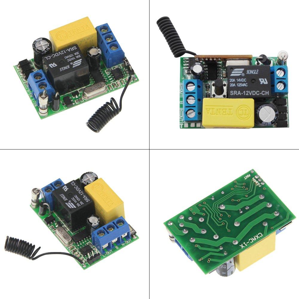 Festnight Interrupteur Mural Wireless 2PCS AC 220V R/écepteur 433 MHz Mur Interrupteur Pour la Mmaison Salle de S/éjour Lampe de Chambre Lampe /à LED