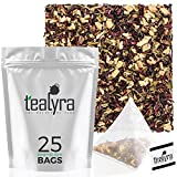 Tealyra – Flat Belly Detox – 25 Bags – Fennel – Peppermint – Hibiscus – Wellness Herbal Loose Leaf Tea – Cleanse Tea – Caffeine Free – Pyramids Style Sachets Review