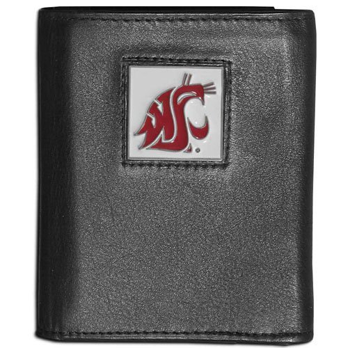 NCAA Washington State Cougars Leather Tri-Fold ()