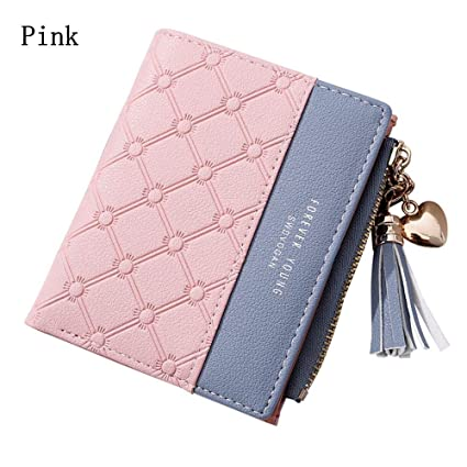 Luggage & Bags 1pc New Novelty Women Geometric Tassels Wallet Pu Leather Bifold Coin Bag Ladies Simple Bifold Small Handbag Purse Clutch Bag