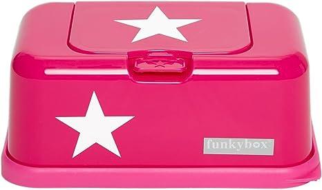 Funky Caja para toallitas húmedas Box en rosa con estrella, Baby ...