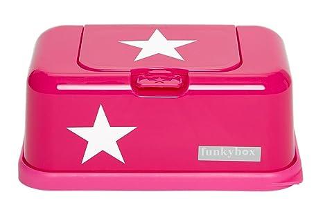 Funky Caja para toallitas húmedas Box en rosa con estrella, Baby Toallitas dispensador