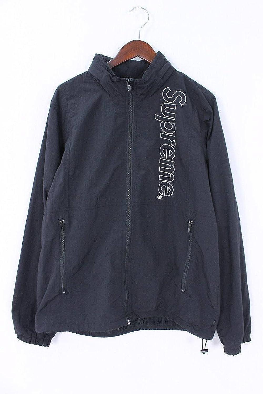 (シュプリーム) SUPREME 【16SS】【Nylon Windbreaker】フルロゴ刺繍ナイロンウィンドブレーカージャケット(M/ブラック) 中古 B07FVQDPVP  -