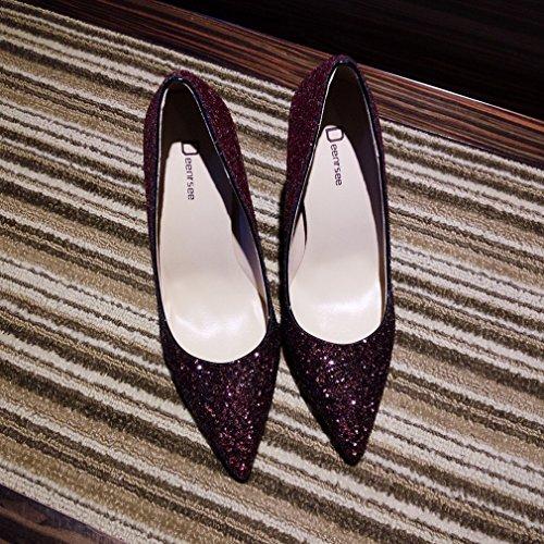 Zapatos de Tacón Alto de Tacón Alto con Zapatos de Mujer Puntiagudos H