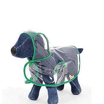 Perrito impermeable para perros Perrito pequeño para paraguas Perrito impermeable de cuatro patas para mascotas,