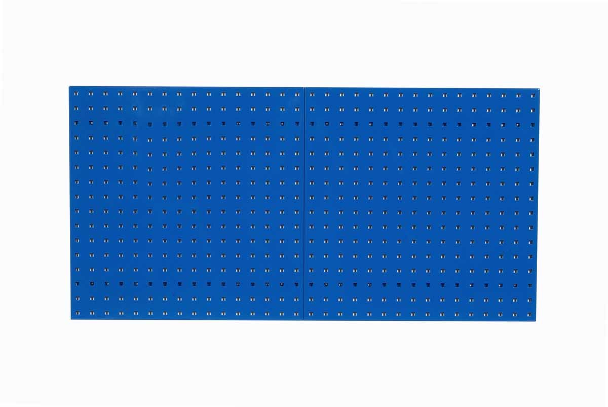 Triton Products LB1-B LocBoard Steel Square Hole Pegboards, 24-Inch x 24-Inch x 9/16-Inch, Blue