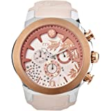 Mulco M10 Forrest Quartz Multifunctional Movement Women's Watch | Premium Forrest Embossed Pattern Sundial with Rose Gold and Swarovski Accents | Silicone Watch Band | Water Resistant