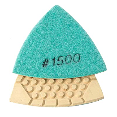 Specialty Diamond BRTTD1500 Diamond Triangular Dry Pad with 1500 Grit: Home Improvement
