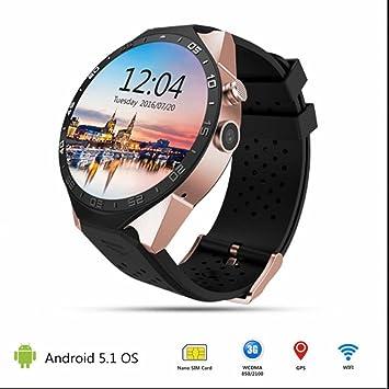 GPS Wifi carte Sim Navigateur Montre Connectée Podomètre Smartwatch avec Cardiofréquencemètres Notifications pour iPhone et Android