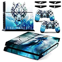PS4 Final Fantasy VII Waterproof Vinyl Skin Decal Cover for Playstation 4 System Console and Controllers