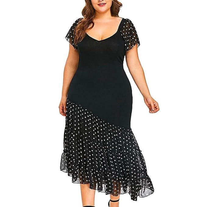 Amazon.com: Plus Size Chiffon Maxi Dresses Women Summer V ...