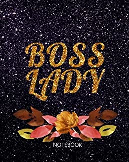 boss lady lined notebook