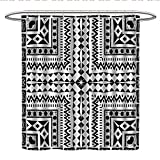 Best All Around Fishing Lines - Tribal Decorhookless Shower curtainPrimitive Pattern with African Vintage Review