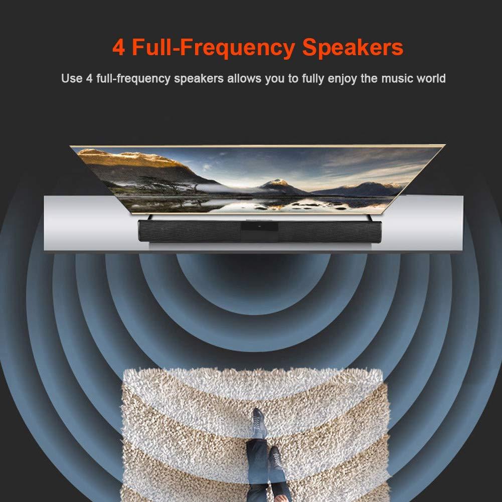 Eboxer Bluetooth V4.0 Barra de Sonido Inal/ámbrica Soporte TF Tarjeta//FM Radio del Presidente Carga por USB con Control Remoto